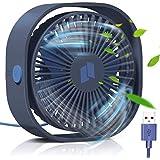 【改良版】USB扇風機 卓上扇風機 Philonext 三段階風量調節 静音 小型 軽量 USBファン 360度角度調整 ミニ扇風機 usb充電式 コンパクト オフィス 会社デスク 車内に適用
