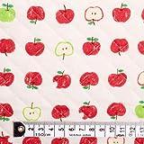 リンゴをかじったのだあれ? キルティング生地 ハンドメイド 手作り用生地 0.5m単位でご注文いただけます。 T0115B00