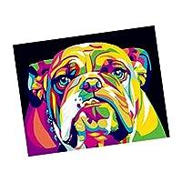 Fityle ダイヤモンドペインティングキット 5D 部屋、寝室 DIY 壁の装飾 全8種 - 犬