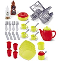 Pretend Play Food – ティーポットParty Assortedマルチカラー40プラスチックピース – キッチンおもちゃ