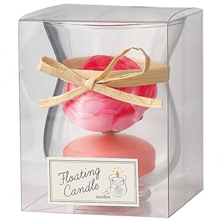 巻き取りラショナル柔和カメヤマキャンドル(kameyama candle) ラナンキュラスフローティング キャンドル「 ピーチアンバ 」