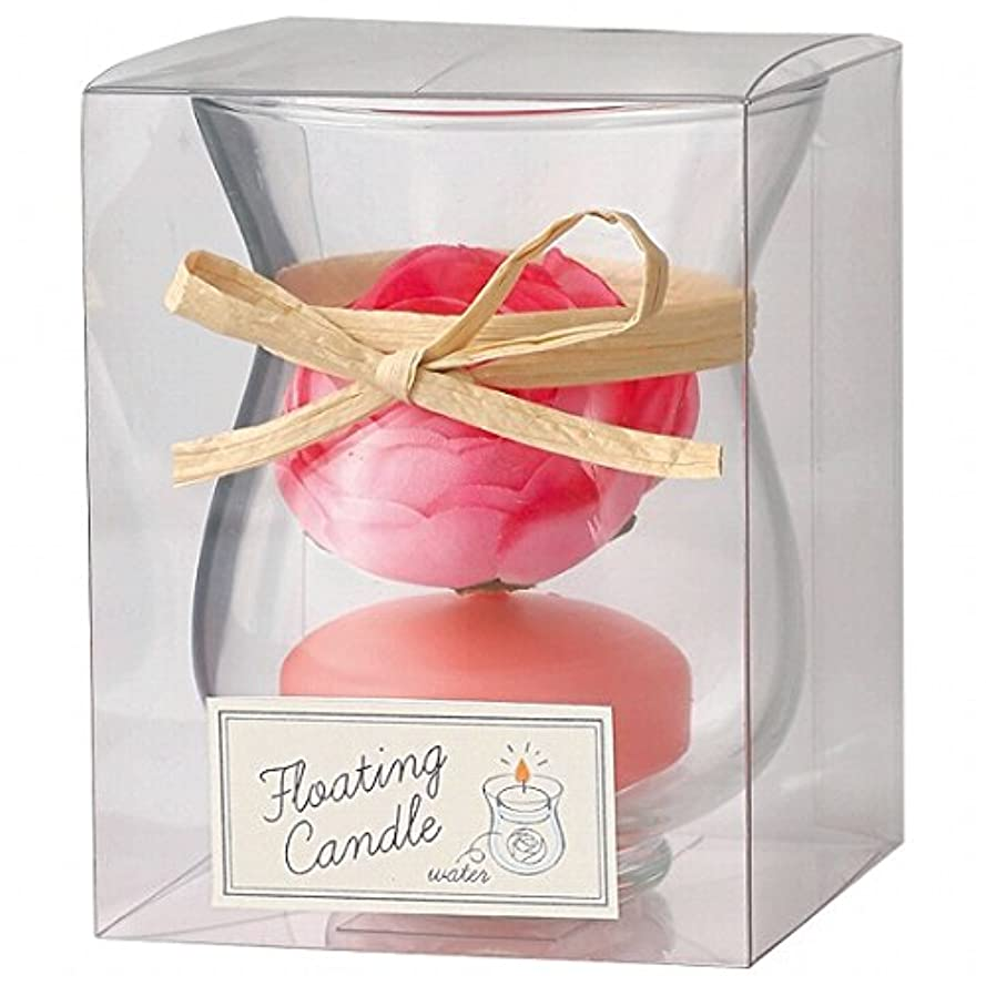 多年生予想外急速なカメヤマキャンドル(kameyama candle) ラナンキュラスフローティング キャンドル「 ピーチアンバ 」
