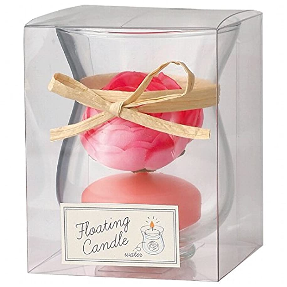 配偶者受益者メタルラインカメヤマキャンドル(kameyama candle) ラナンキュラスフローティング キャンドル「 ピーチアンバ 」