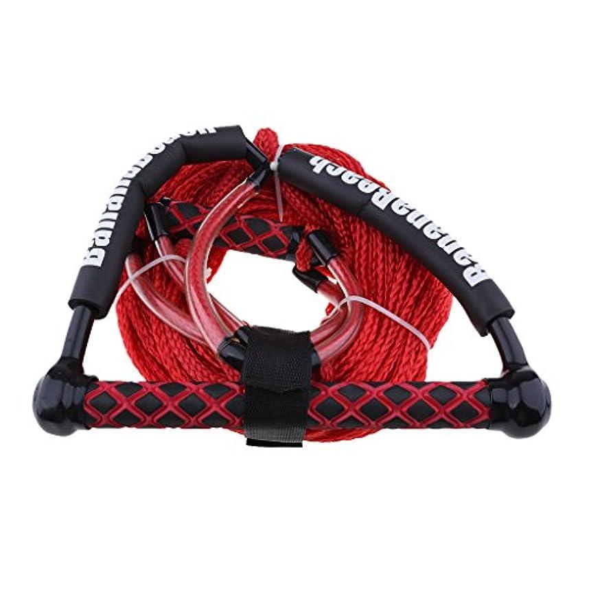 暫定スピンふさわしいSharplace ウォータースポーツ用 牽引ロープ ハンドル付き 水上スキー ウェイクボード ロープ