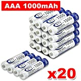 1000mAh BTY AAA Rechargeable Battery Recharge Batteries Ni-MH 1.2V (20 PCS)