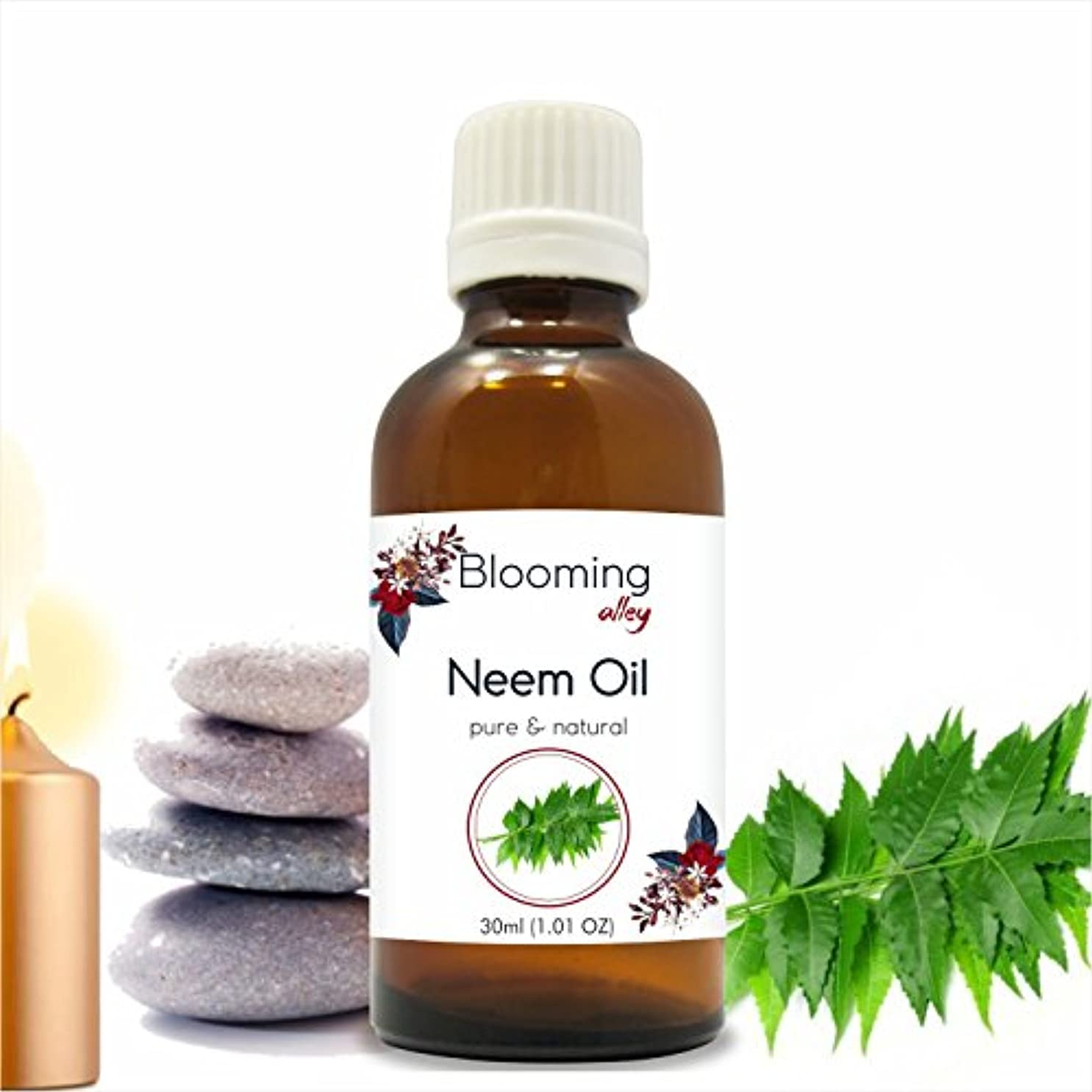 藤色有益な創造Neem Oil (Azadirachta Indica) Essential Oil 30 ml or 1.0 Fl Oz by Blooming Alley