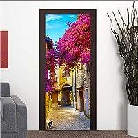 Mingld ヨーロッパの街の通り3D写真壁画壁紙レストランのリビングルームのドア壁画Pvc自己接着防水ビニールの壁紙3 D-150X120Cm