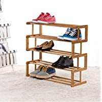 5段竹靴ラックソリッドウッド靴箱防塵クリエイティブSタイプ