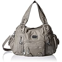 Hynes Victory Women Bag Vintage Washed Faux Leather Handbag Hobo Bags Shoulder Bags