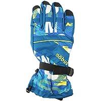 MOBUS(モーブス)メンズ スキーグローブ ロゴ柄 カフスベルト アジャストコード ボード GMOB-366AD ブルー
