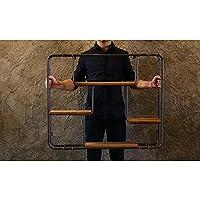 Knmkl アメリカンロフト収納ラック 鉄製壁掛け ヴィンテージ装飾ディスプレイラック クリエイティブカフェショップ壁シェルフ 2サイズ L 54612