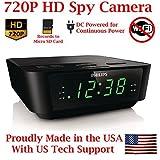 AES Spy Cameras ACRHD 720p Alarm Clock Radio HD Covert Hidden Nanny Camera Spy Gadget (Black) [並行輸入品]