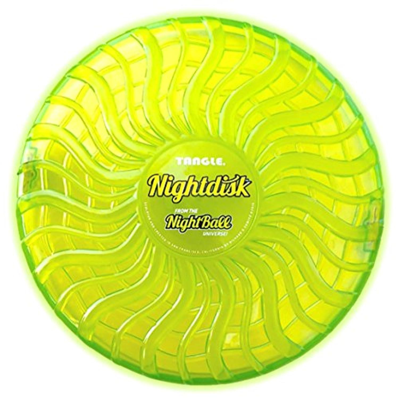 ニューアークス フライングディスク 光る ナイトディスク 防水 直径約24.5cm グリーン