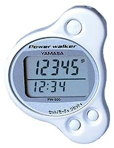 山佐(YAMASA) 万歩計 ポケット万歩 パワーウォーカー ホワイト PW-500W