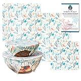 VIVIBLU オーガニック ミツロウ エコラップ 再利用可能&エコフレンドリー 蜜蝋ラップ 沖縄モチーフデザインシリーズ Beeswax Wrap S,M,Lの3枚セット
