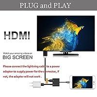 変換アダプター 1080P HD ライトニング → HDMIアダプタ Lightning デジタル AVアダプタ iPhone/iPad / iPodモデル用 iPhone 8plus/iPhoneX対応