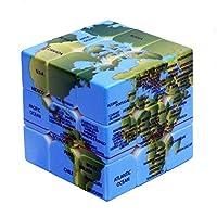 Shenghe キットを遊ぶ大人の子供のための脳の訓練のための3x3x3地球パターンマジックキューブ速度パズルキューブ