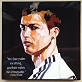 クリスティアーノ・ロナウドA レアルマドリード 海外製 サッカーグラフィックアート 木製ポスター インテリア