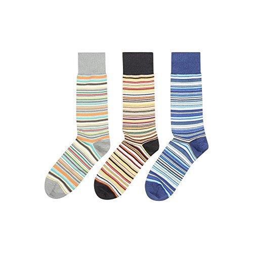 (ポールスミス) Paul Smith メンズ インナー・下着 ソックス 3 Pack Multi Stripe Sock [並行輸入品]