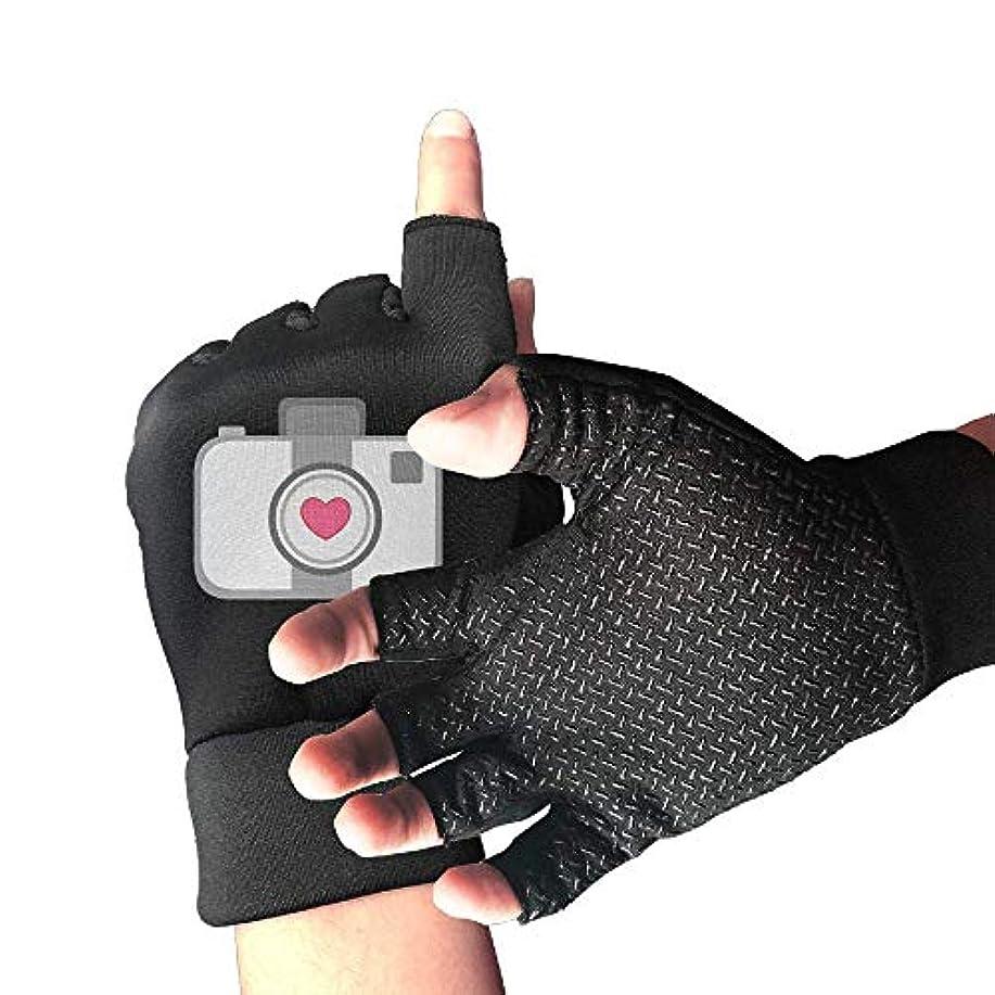 製造頑丈いっぱいCycling Gloves Heart Camera Men's/Women's Mountain Bike Gloves Half Finger Anti-Slip Motorcycle Gloves