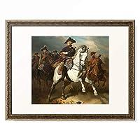 ヴィルヘルム・カンプハウゼン Wilhelm Camphausen 「Frederick the Great on Horseback. 1861」 額装アート作品