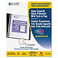 C-Line Super Capacity 200 Sheet Protector with Flap - 10pk by C-Line