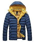 KEEPLINE メンズ 中綿 ダウンジャケット 大きサイズ 軽量 フード付き 防寒 登山 アウター 秋冬服 ビジネス カジュアル スリム コート  ブルゾン ジャンパー 4色