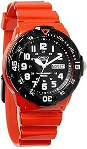 [カシオ]CASIO チプカシ 腕時計 アナログ チープカシオ ダイバーズウォッチ カレンダー 樹脂ベルト メンズ MRW-200HC-4B レッド ブラック [並行輸入品]