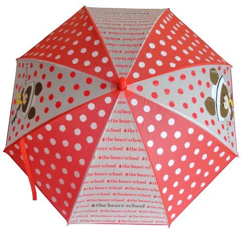 サンマルコ くまのがっこう 傘 セーラー柄 レッド 50cm