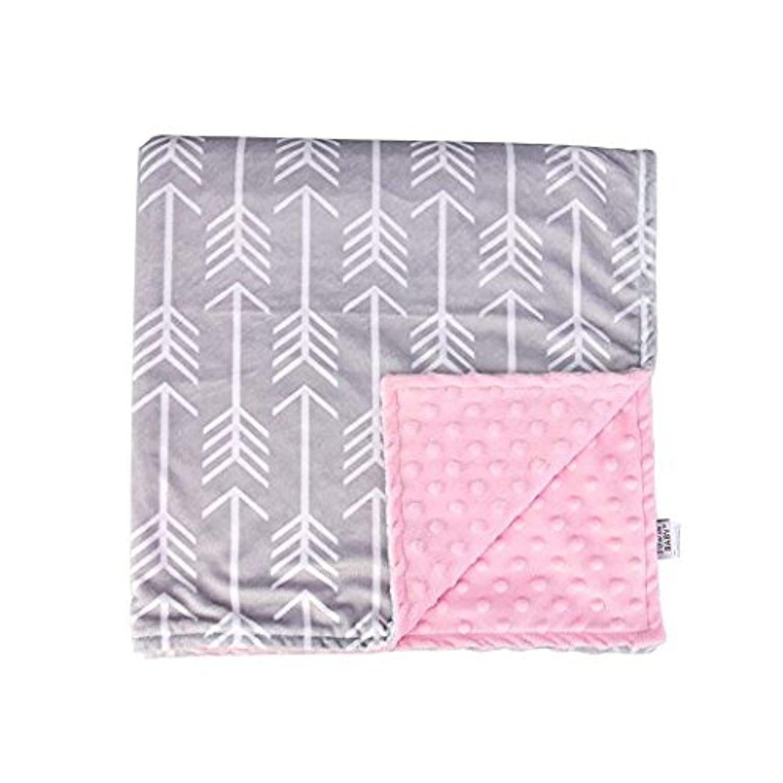 Towin Baby Arrow Minky Receiving Blanket, Pink 29x29 by TOWIN BABY