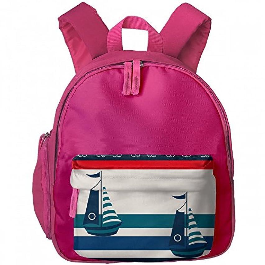 特派員高く怠けたセーリング カラー ボート プリントアイデア デザイン おしゃれ 通気性 子ども 男の子 女の子 キッズ リュック 通学 ショルダーバッグ
