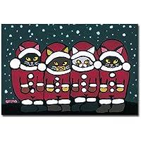 猫の足あと ポストカード 「メリークリスマス2」
