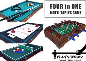 PLAYNTERIOR/プレインテリア 木製マルチテーブルゲーム テーブルサッカーゲーム  フーズボール 【MT-1002】