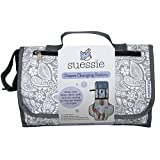 Suessie Portable Diaper Changing Pad - Changing Pad Organizer for Travel - Waterproof Change Mat with Clutch - Baby Travel Changing Kit with Bonus Loop for Toys - BPA Free Changing Station