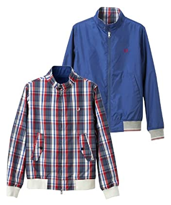 Fred Perry Reversible Harrington F2378: Navy Tricolor Check