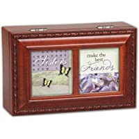 Cottage Garden Sisters Make Woodgrain Petite Music Box / Jewellery Box Plays That'S What Friends Are For