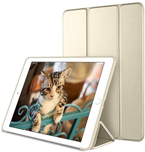 DTTO iPad pro 10.5 ケース 超薄型 超軽量 生涯保証 TPU ソフト スマートカバー 三つ折り スタンド スマートキーボード対応 キズ防止 指紋防止 [オート スリープ/スリー プ解除] 2017最新版専用対応 シャンパンゴールド