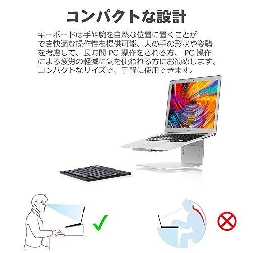 『iClever Bluetooth 薄型キーボード 7色 led Windows iOS Android Mac 対応 ブラック IC-BK04』の6枚目の画像