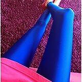 レディース スパッツ BEE&BLUE  品質 高弾性 キャンディカラー シャイニーパンツ 蛍光タイプ レギンス 10分丈 レディース ボトムス スパッツ シンプル 美脚 スキニー ブルー