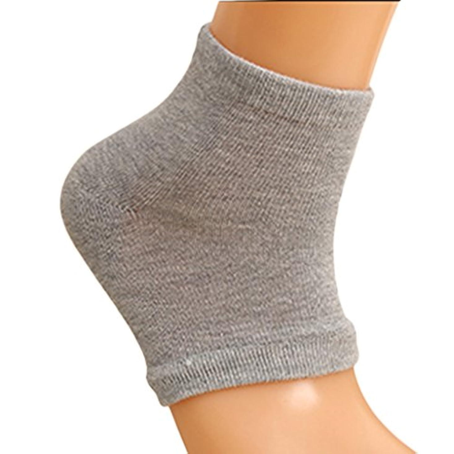 著作権遠足ターゲットSeliyi 2色組 靴下 ソックス レディース メンズ 靴下 つるつる 靴下 フットケア かかとケア ひび 角質ケア 保湿 角質除去(ピンク+グレー)