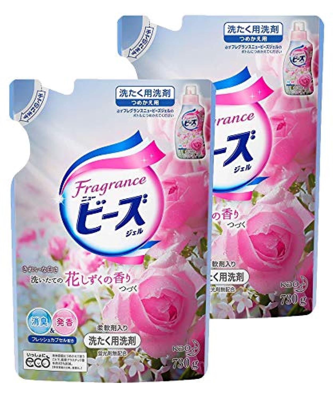 【まとめ買い】フレグランスニュービーズ 衣料用洗剤 液体 ジェル 詰替用 730g×2個
