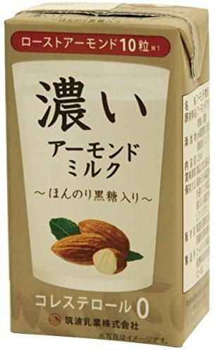 濃いアーモンドミルク ほんのり黒糖入り 紙パック 125ml ×15本