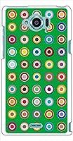 sslink SH-01G AQUOS ZETA/SH-02G Disney Mobile on docomo ハードケース ca870-4 マルチカラー ドットスマホ ケース スマートフォン カバー カスタム ジャケット docomo