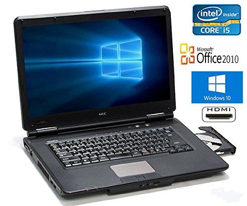 【Microsoft Office2010搭載】【Win10搭載】NEC VK24TX-D/第二世代Core i5 2.40GHz/メモリ4GB/HDD250GB/DVDスーパーマルチ/大画面15インチ/無線LAN搭載/中古ノートパソコン