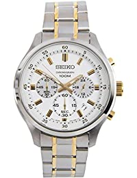 セイコー SEIKO クロノ クオーツ メンズ 腕時計 SKS589P1 ホワイト [並行輸入品]