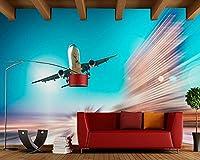 Yosot カスタム 3d の壁画には、飛行機の写真の壁紙、リビングルームのテレビのソファーの壁キッチンベッドルームレストランバーコーヒーショップ 3d 壁紙-350cmx245cm