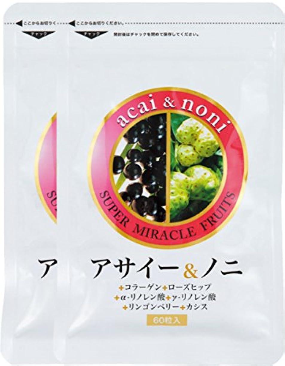 干渉する酸化するパパすこやか笑顔 アサイー&ノニ60粒×2袋セット