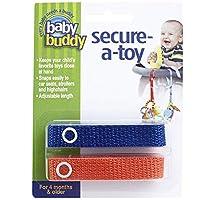 Baby Buddy(ベビーバディ) Secure-A-Toy 2ct おもちゃストラップ2色各1本組 ロイヤルブルー/オレンジ 2本