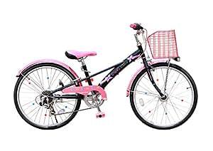 My Pallas(マイパラス) GRAPHIS 女の子用自転車(子供用自転車) 24インチ 6段変速 カラー/ブラック×ピンク GR-Ribbon