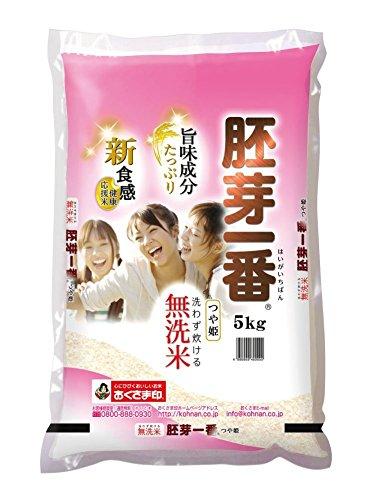 幸南食糧 無洗米胚芽一番 宮城県つや姫 5Kg